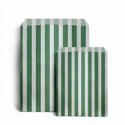 Papiertüten gestreift, grün