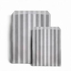 Papiertüten gestreift, grau
