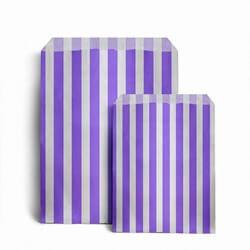 Papiertüten gestreift, lila