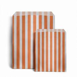 Papiertüten gestreift, orange