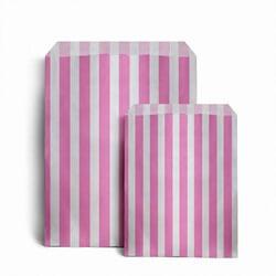 Papiertüten gestreift, rosa