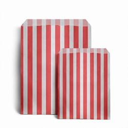 Papiertüten gestreift, rot