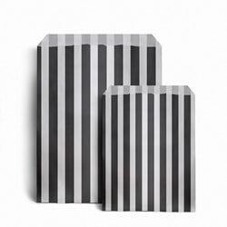 Papiertüten gestreift, schwarz