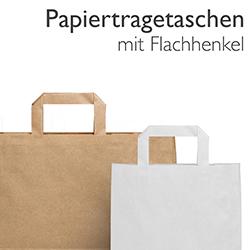 Papiertragetaschen mit Flachhenkel
