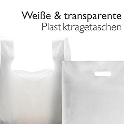 Weiße & transparente Tragetaschen