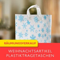 Weihnachtstragetaschen aus Kunststoff