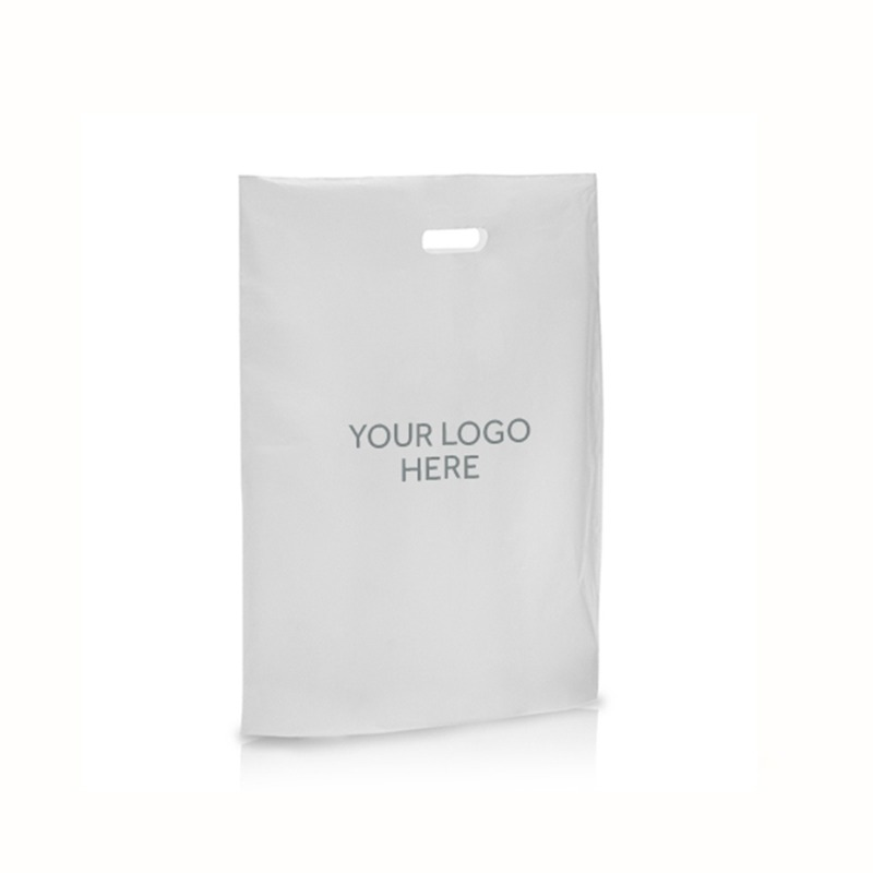 Frosted Printed Varigauge Plastic Carrier Bags